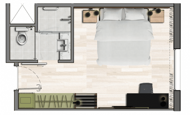 Apartamento Standard Casal - 22,5m²