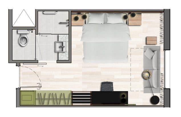 Apartamento Family - 22,5m²