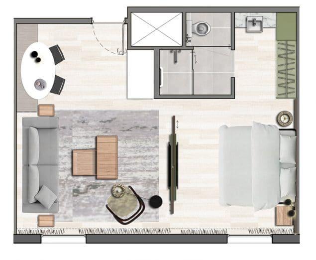 Apartamento Luxo - 45,13m²