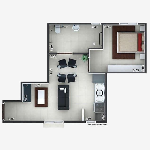 1 Dorm. 39,12m²
