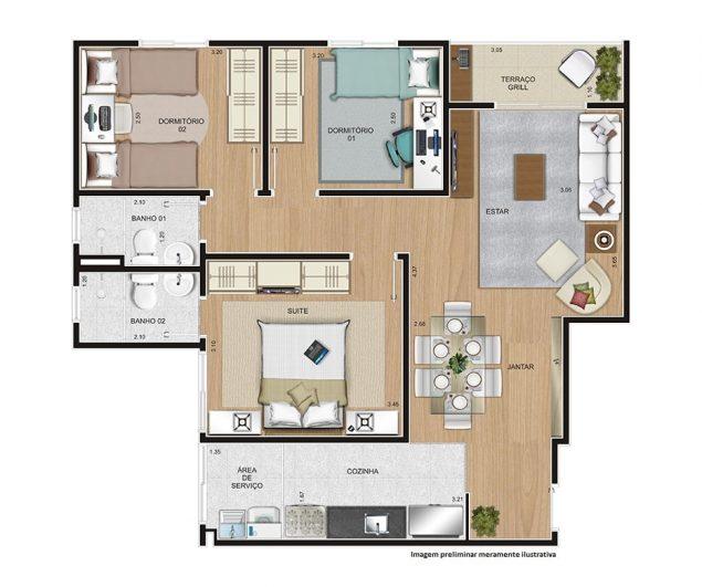 Apartamento Tipo 75,79m²
